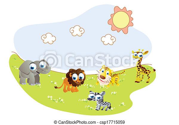 Dibujos de animales safari - csp17715059