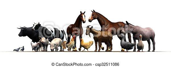 Animales de granja - csp32511086