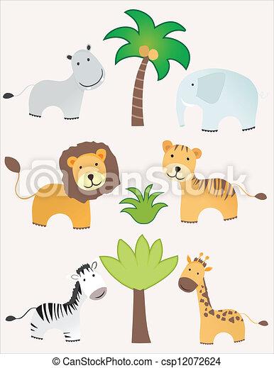 Animales Safari - csp12072624