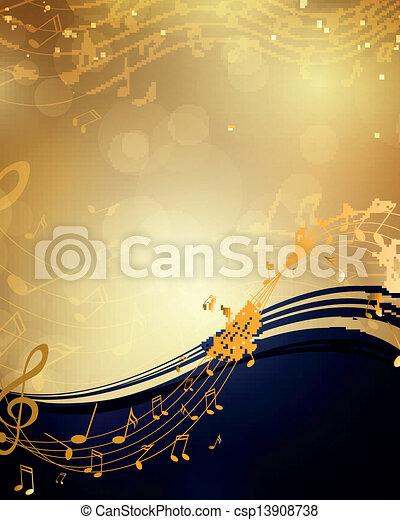 Antecedente de vector con notas musicales - csp13908738