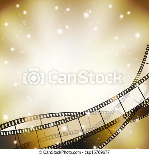 Antecedentes con retro cinematografía y estrellas - csp15789677