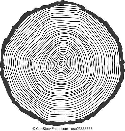 Antecedentes conceptuales vectores con anillos de árboles. - csp23883663