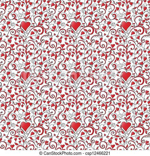 Antecedentes inmaculados con adornos de corazones - csp12466221