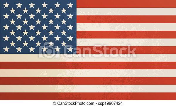 Antecedentes texturados de la bandera americana. - csp19907424