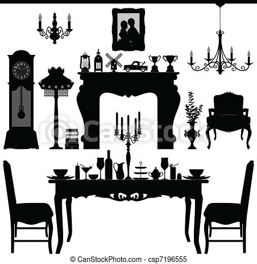 Comer muebles viejos - csp7196555