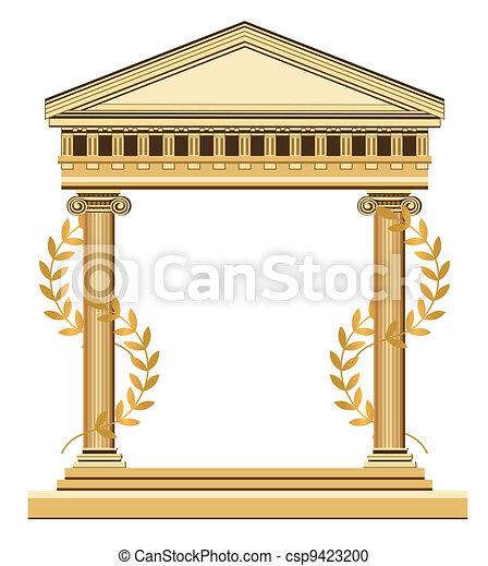 Templo griego antiguo - csp9423200