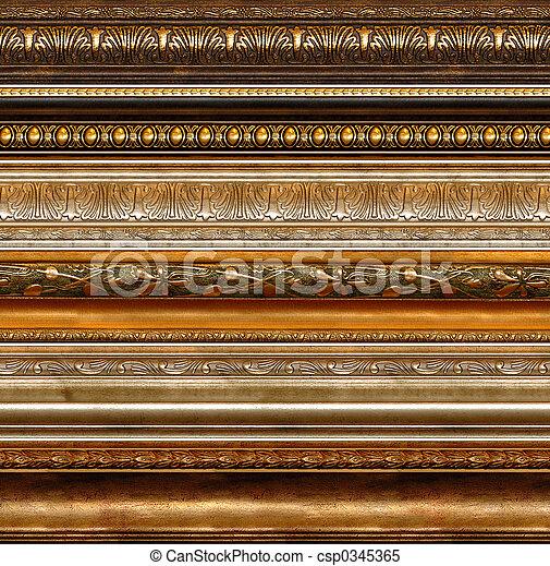 Patrones anticuáticos decorativos - csp0345365