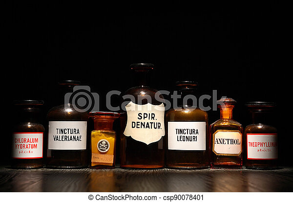 antiguo, medicinas, conjunto - csp90078401