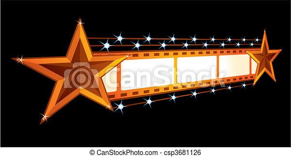 Anuncio de cine - csp3681126