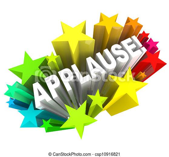 Aplaude a las estrellas de aprobación de la ovación - csp10916821