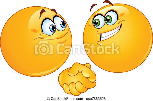 Emoticonos de apretón de manos - csp7863526