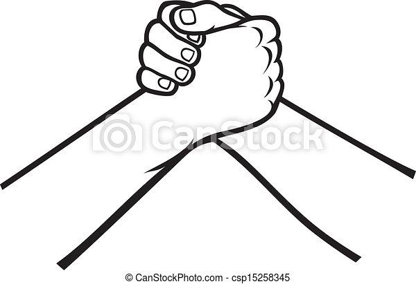 Un apretón de manos - csp15258345