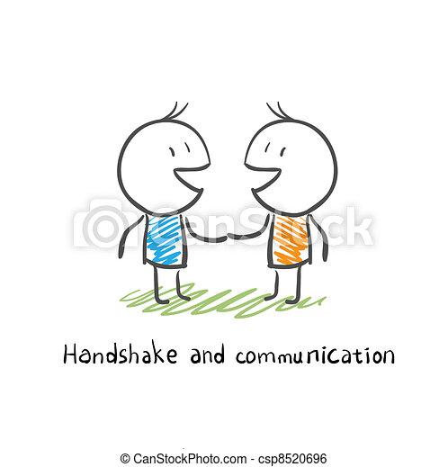 Apretón de manos y comunicación - csp8520696