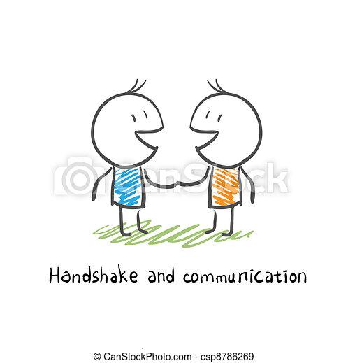 Apretón de manos y comunicación - csp8786269