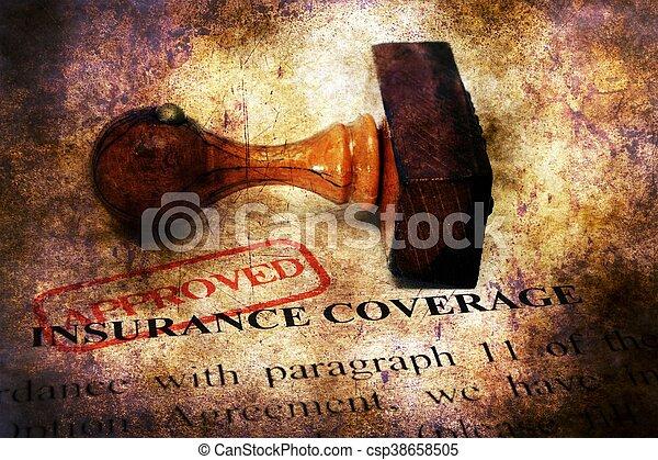 Stamp aprobó el concepto de cobertura de seguro - csp38658505