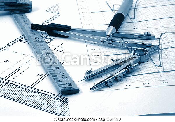 Architectur planea vivir en bienes raíces residenciales - csp1561130