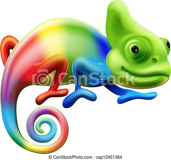 Camaleón arco iris - csp12451364