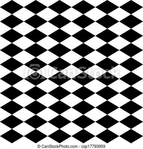 Arlequín sin forma, blanco y negro - csp17793959