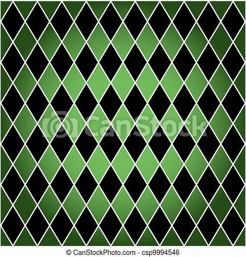 Arlequín sin semen, verde y negro - csp9994546