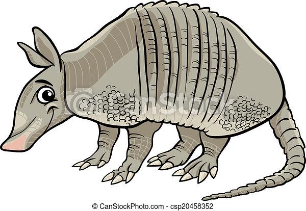 Ilustración de dibujos de animales de Armadillo - csp20458352