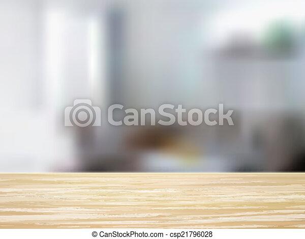 Armario de escritorio de madera e interior - csp21796028