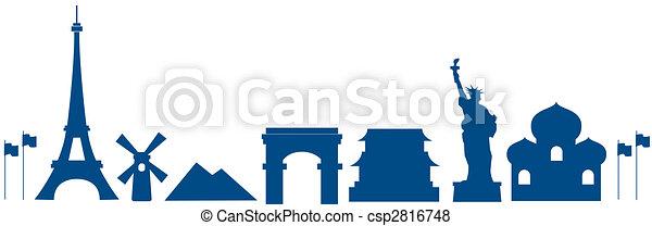 Arquitectura mundial - csp2816748