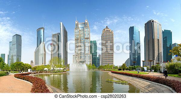 Parques y arquitectura moderna - csp28020263