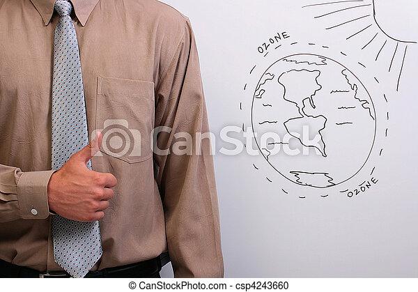 Hombre mostrando pulgares hacia arriba - csp4243660