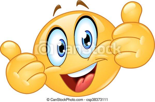 Pulgares arriba emoticono - csp38373111