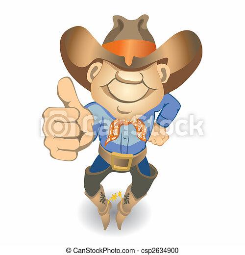 Pulgares arriba vaquero (vector) - csp2634900