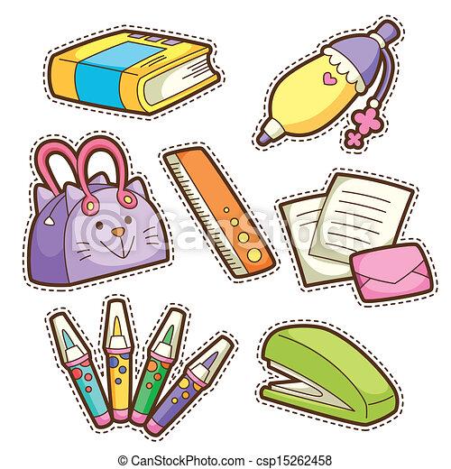 Preparados. De diferentes artículos escolares - csp15262458