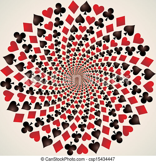 Traje de cartas. Jugando a las cartas. Arte opcional - csp15434447