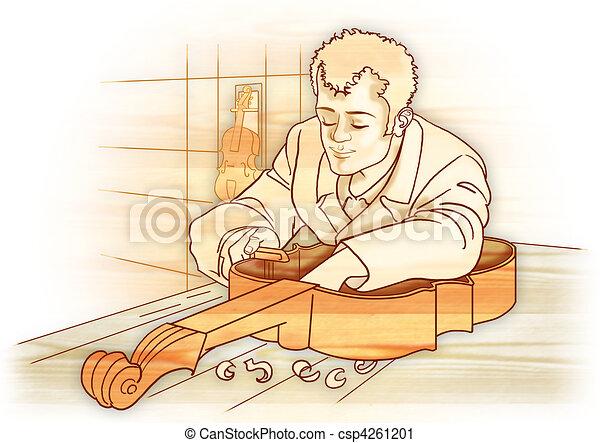 Artisan Luthier aislado - csp4261201