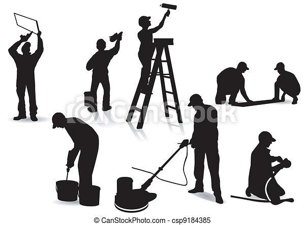 Artisanos y pintores - csp9184385