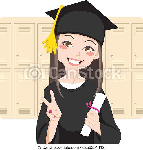 Graduado asiático - csp6351412