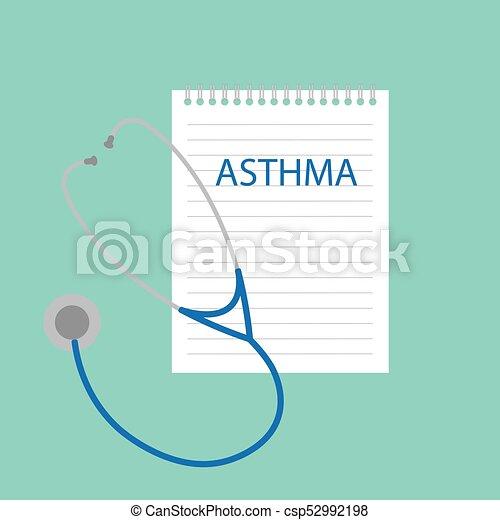Asma escrito en el cuaderno - csp52992198