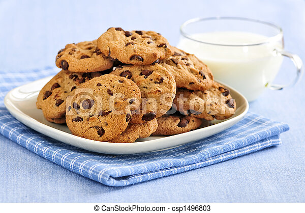 Galletas de chocolate y leche - csp1496803