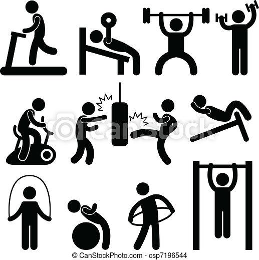 Ejercicio de gimnasia atlética - csp7196544