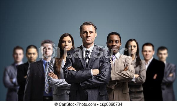 Gente joven y atractiva de negocios - csp6868734