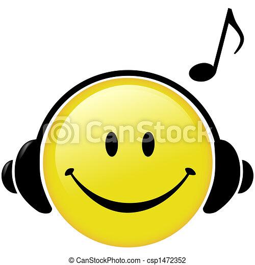 Auriculares musicales felices - csp1472352