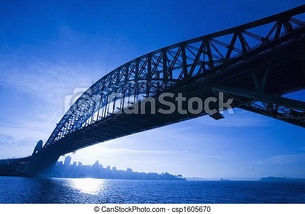 Puente, Sydney, Australia. - csp1605670