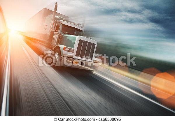 Camión en la autopista - csp6508095