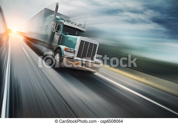 Camión en la autopista - csp6508064