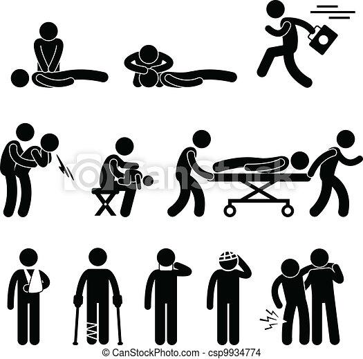 Ayuda a resguardo de emergencia ayuda a reanimación cardiopulmonar - csp9934774