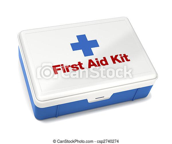 Kit de primeros auxilios aislado en blanco - csp2740274