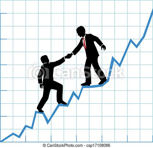 El equipo de negocios ayuda al crecimiento de la empresa - csp17108086