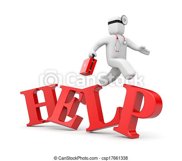 El médico se apresura a ayudar - csp17661338