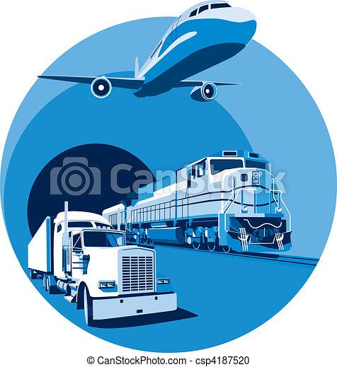 Transporte de carga azul - csp4187520