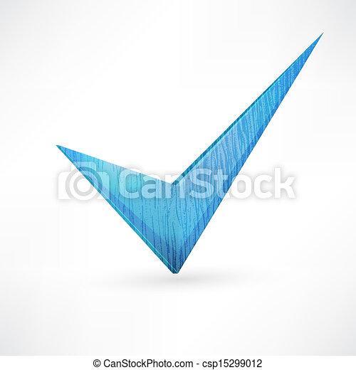 Marca azul. - csp15299012