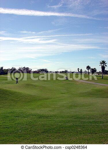Gran golf azul - csp0248364